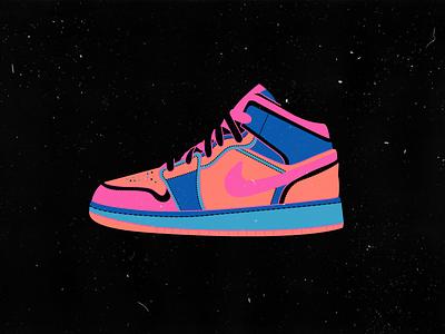 Jordan sneakers branding editorial vector web design illustration