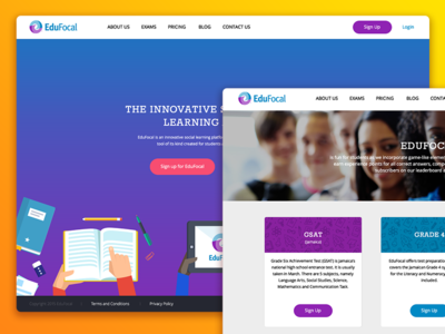 EduFocal Redesign web illustration interface web design flat ux ui website