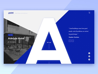 Concept for Architectural Agency main minimal web design ux ui