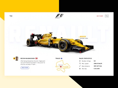 Formula 1 car profile shadow icon white clean web design ux ui