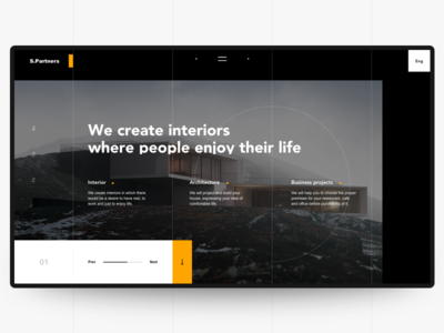 S.P. Main Page Concept black web ux ui promo main halo design color