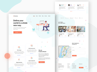 Digital agency website design xd ui kit xd design xd template ui psd template digital agency creative studio creative agency corporate business brand agency agency agencies advertising company