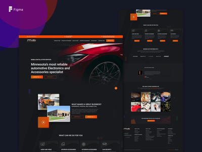 Automobile Installation services website graphicdesign webdesign appdesign userinterfaces userinterface uxdesign uidesign ui ux mobileapp graphic dribbble design behance app xd sketch skeumorphism adobe figma