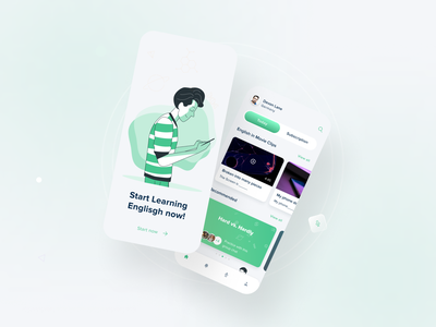 Learning English language app ux design uiux education education app learn learning english englishlanguage learning platform learning app learning mobile ui app illustration adobe design uxdesign ux userinterface appdesign ui
