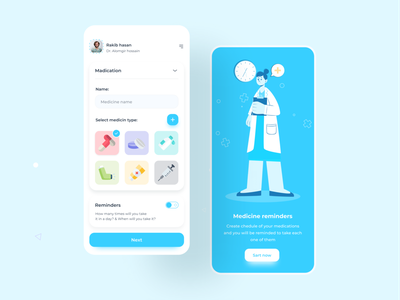 Medicine reminder app dailyui doctor reminder app pill behancereviews behance project behance dribble invite dribbbleweeklywarmup dribbble best shot webdesign app uiux mobile ui appdesign design userinterface uxdesign ux ui