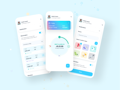 Medicine reminder app mockup capsule dailyui dribble shot dribbble invite mobile app design reminders reminder app medications mobile app dribbble best shot app uiux mobile ui uxdesign ux design userinterface appdesign ui