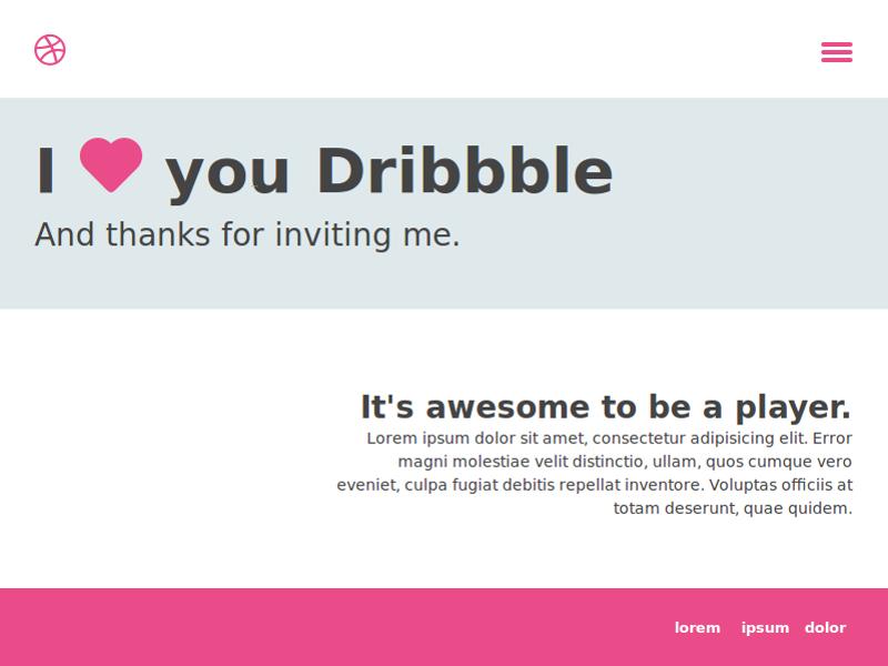 Thank You Dribbble thanks dribbble web webdesign minimal ui minimalistic thank you dribble
