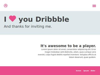Thank You Dribbble