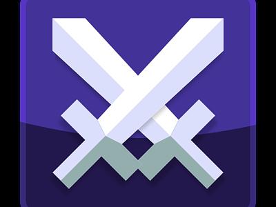 My skills icon vectorial icon inkscape swords flat design
