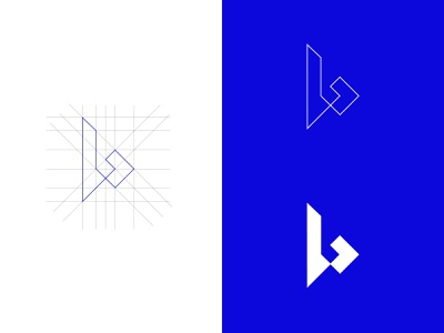 B Mark letter vector illustration design art simple minimalist idea inspiration logo