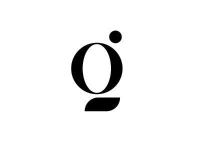 G or Q ? graphic design art design branding inspiration idea simple minimalist logo