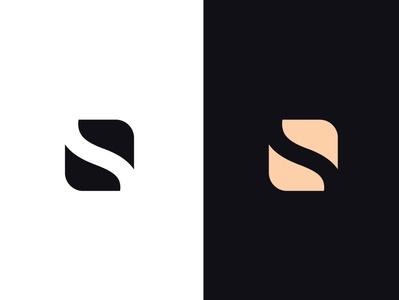Negative Space Logo simple minimalist negative logo