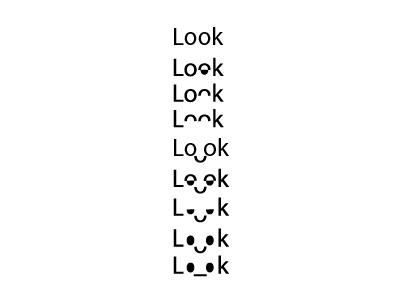 Idea for 'Look' logo design art look fun logo idea