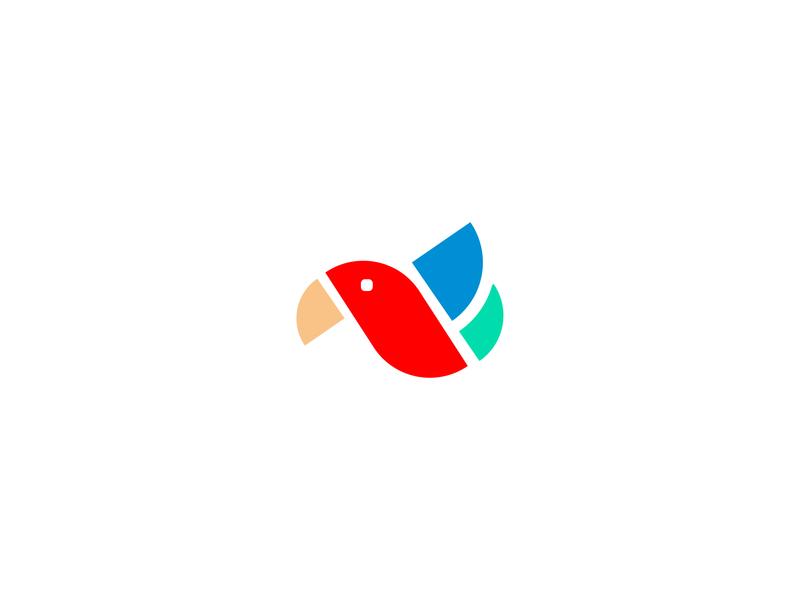 B for bird illustration inspiration idea art letter b letter type parrot logo negative space simple bird logo bird