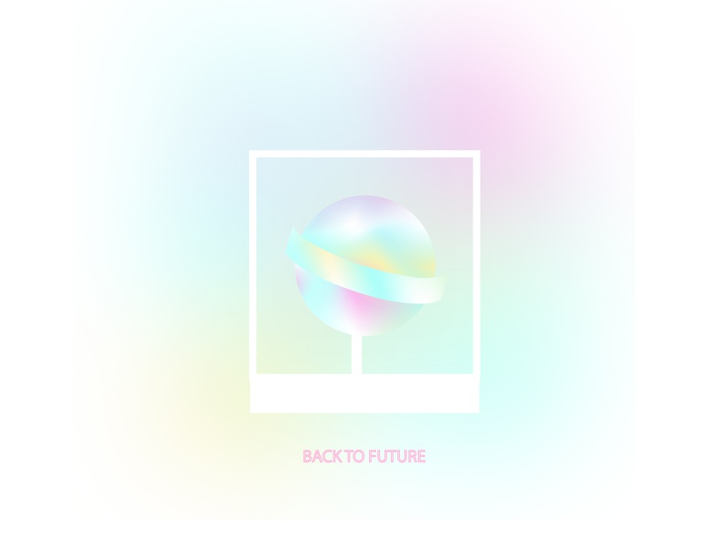 Candy design gradient rainbow candy simple art