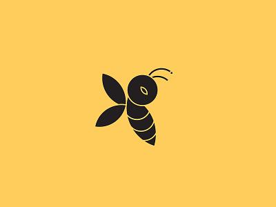 Bee Logo inspiration vector illustration design simple idea art animal logo logo design yellow cute animal minimalist bee logo
