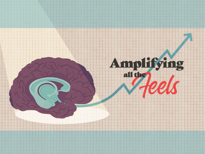 Amplifying all the Feels hand lettering type design editorial illustration illustration