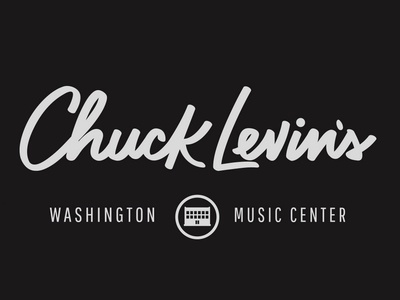 Chuck Levin's Lettering logo music hand lettering
