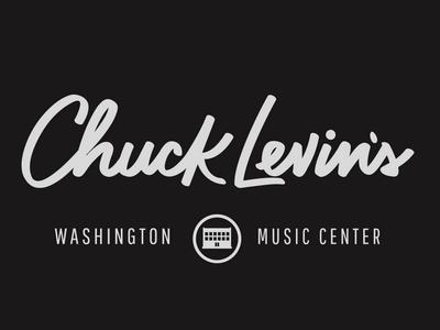 Chuck Levin's Lettering logo music hand lettering