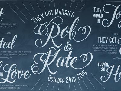 Wedding Chalk wedding hand lettering chalk