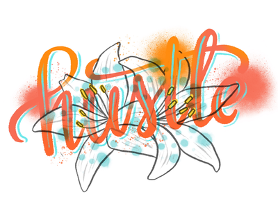 Summer Hustle procreate illustration hand lettering