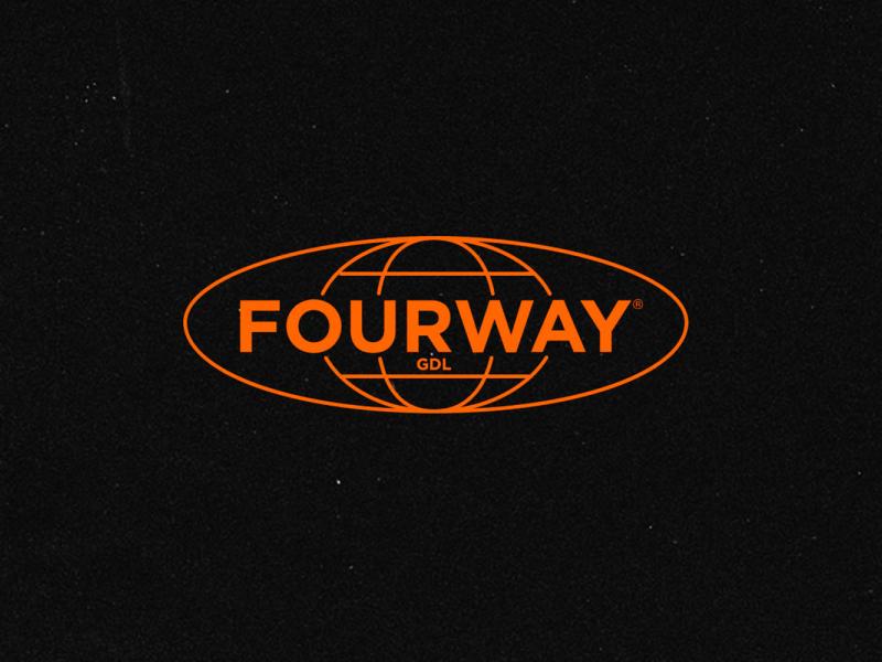 FourWay® Guadalajara branding world logotype logo mexico gdl
