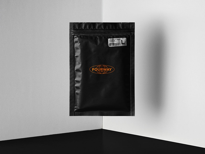 FourWay® Packaging design branding blackandwhite gdl mexico empaque logo design packaging logotype logo fourway