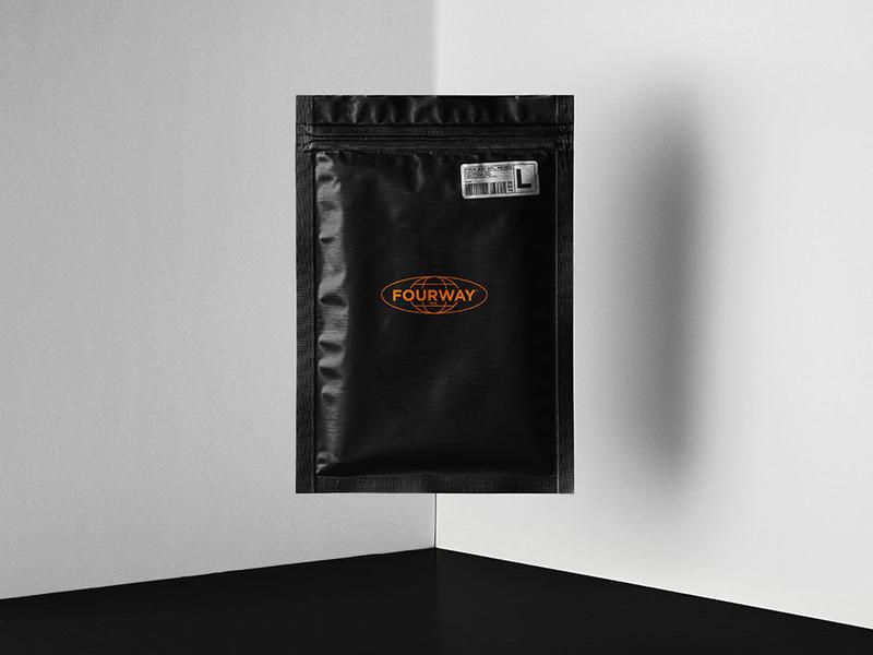 FourWay® Packaging design branding blackandwhite gdl mexico empaque logo design packaging logotype logo fourway