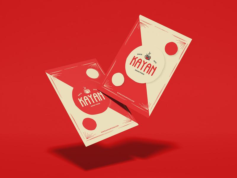 Kayan Poster Design branding restaurant shapes red design poster mexico asian food kayankwok