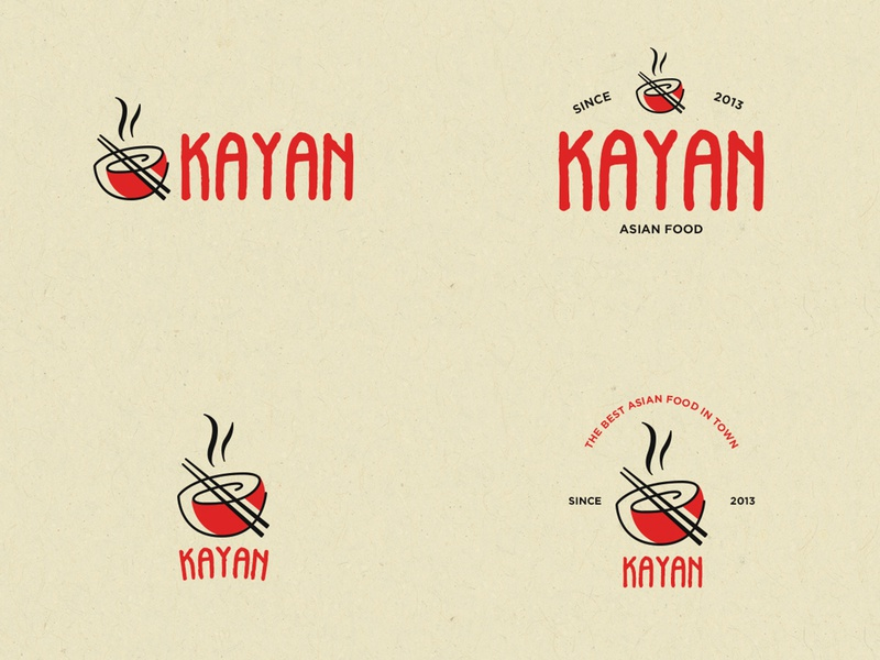 Kayan Asian Food bowl red logotypes logotype mexico chinese woke restaurant asian food kayankwok