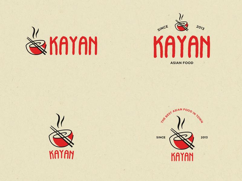 Kayan Asian Food bowl red logotypes logotype mexico chinese woke restaurant asian food kayankwok