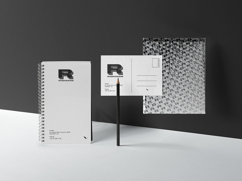 Stationery for Radharani mexico logo branding package postal pencil notebook papeleria stationery radharani