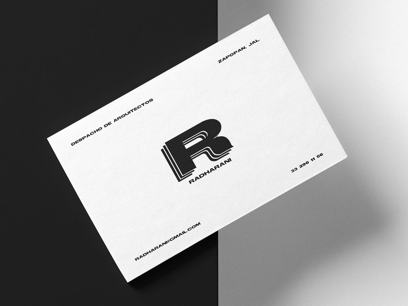 Business Card for Radharani stationery businesscard r logotipos mexico zapopan jalisco radharani logotype logotipos logotipo