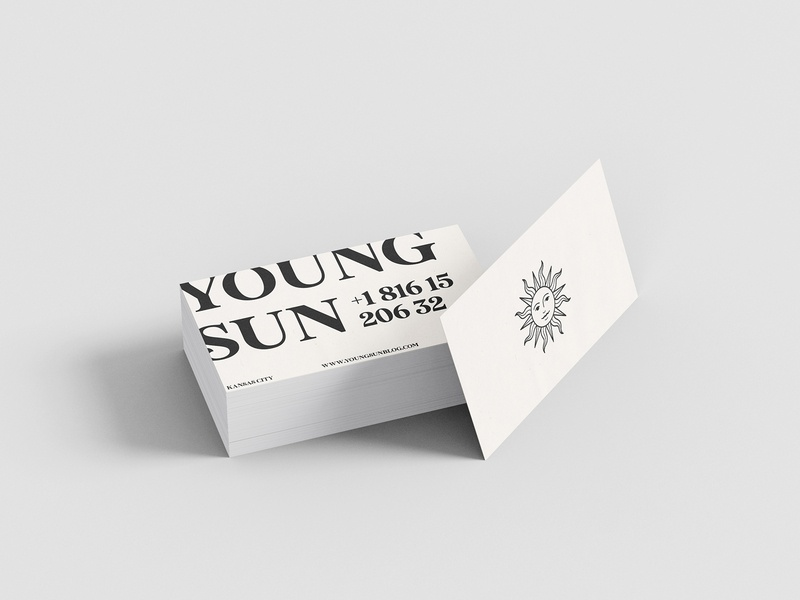 Business Cards for Young Sun mexico business card mockup branding typography illustration sun businesscard youngsun