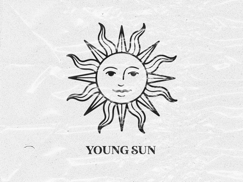 Logotype for Young Sun design stationery mexico branding logotype logo illustration sun young sun