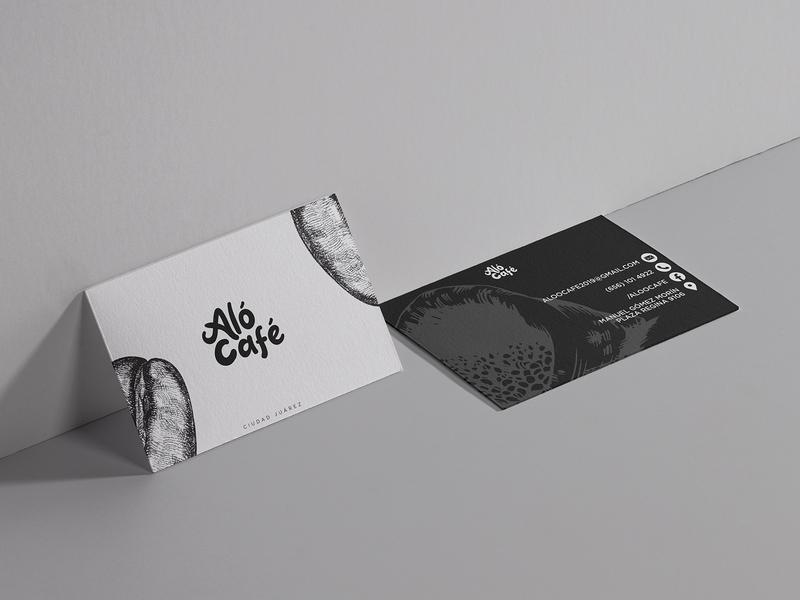 Business Cards for Aló Café mexico design papeleria stationery coffee logodesign tarjeta de presentacion businesscard logo