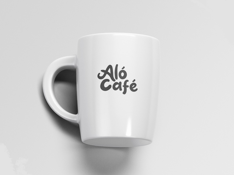 Logotype for Aló Café branding cup design product design logo design cafe branding mexico coffe cafe alo alo cafe logo logotype