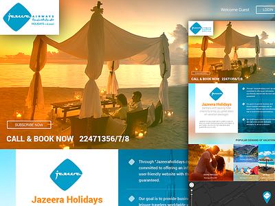 Jazeera Airways orange blue design abhishek ui ux travel