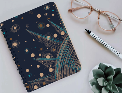 notepad with space