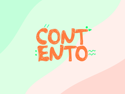 Contento vector design branding logo typography