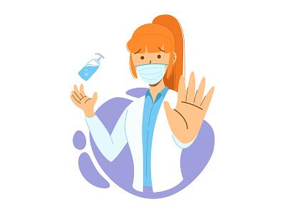 Stop Underestimating Viruses coronavirus flat vector illustration design
