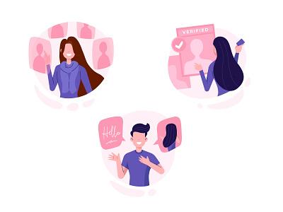 Love Illustrations valentine pink love culture branding cute minimal flat vector illustration design