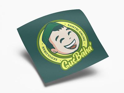 Gus Baha' FansClub kids child logo branding cute flat design vector illustration