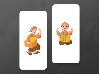 Djava Illustration java mobile vector ux ui illustration design
