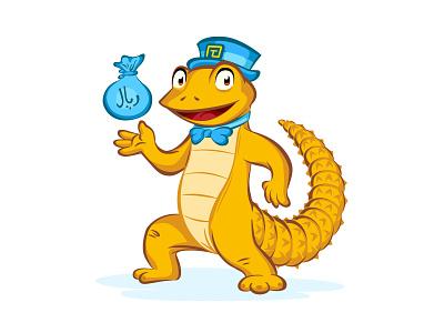 Dhab Mascot Design mascot loan finance illustration desert lizard reptile animal business vector design branding