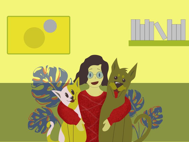 BestBuddies Illustration adoption pet webdesign ui design ui vector flat illustration