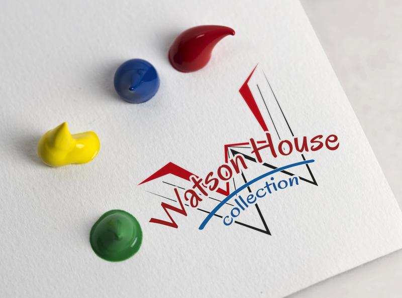 Logo watson house web vector typography website illustration logo design logo flat design branding