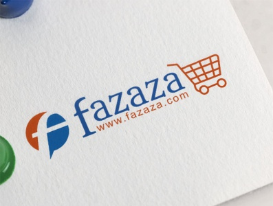 Logo Design E-commerce Fazaza app website web illustration vector typography logo design logo flat design branding