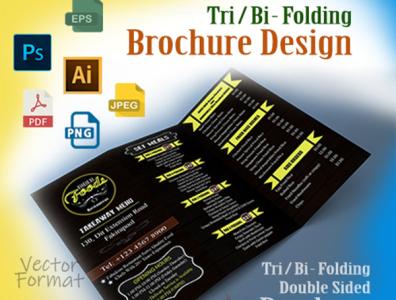 Brochure Design flyer design vector print ready layout bi fold trifold print leaflet brochure flyer design