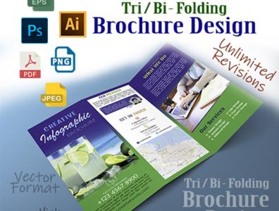 Brochure design double folding flyer print design design